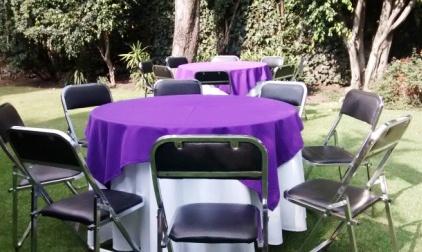Renta de sillas y mesas 0445529649053 en cuernavaca for Mesas redondas plegables para eventos